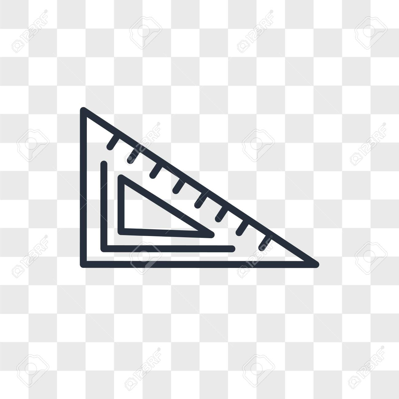 Protractor vector icon isolated on transparent background, Protractor logo concept - 150640947