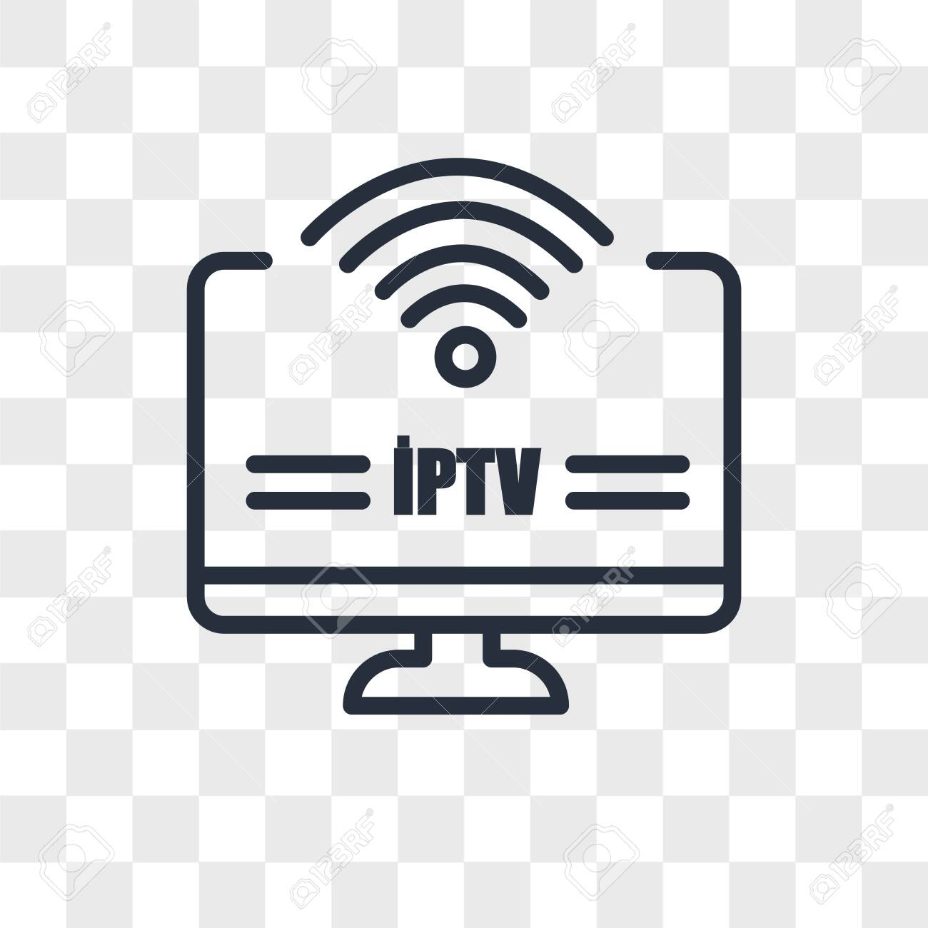 iptv vector icon isolated on transparent background, iptv logo concept - 150639210