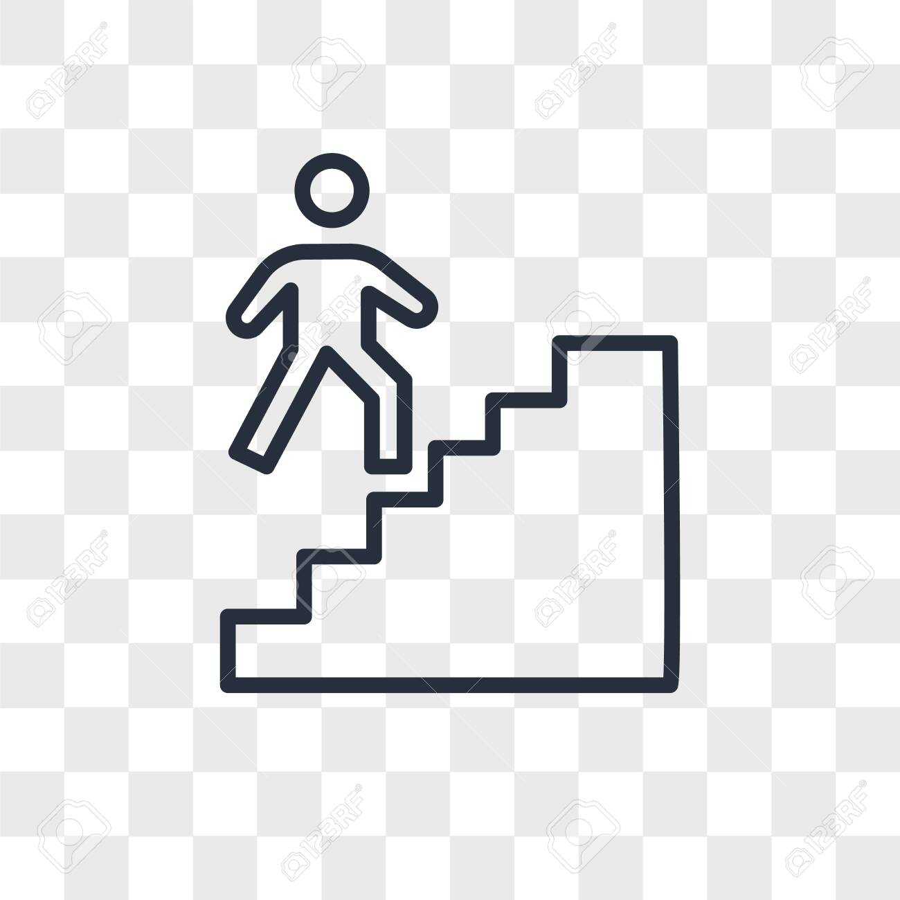 stairwell vector icon isolated on transparent background, stairwell logo concept - 150639282