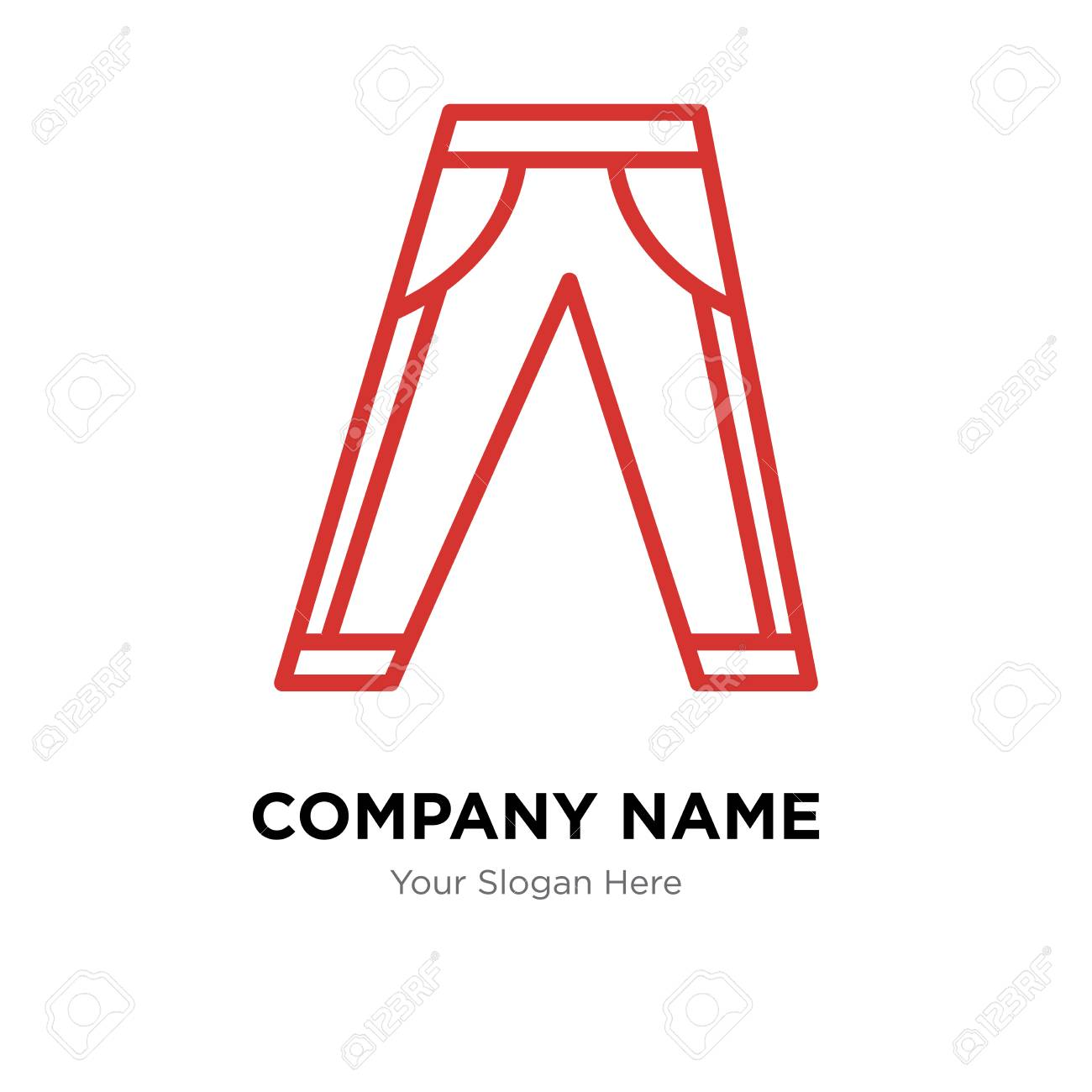 jeans company logo design template jeans logotype vector icon