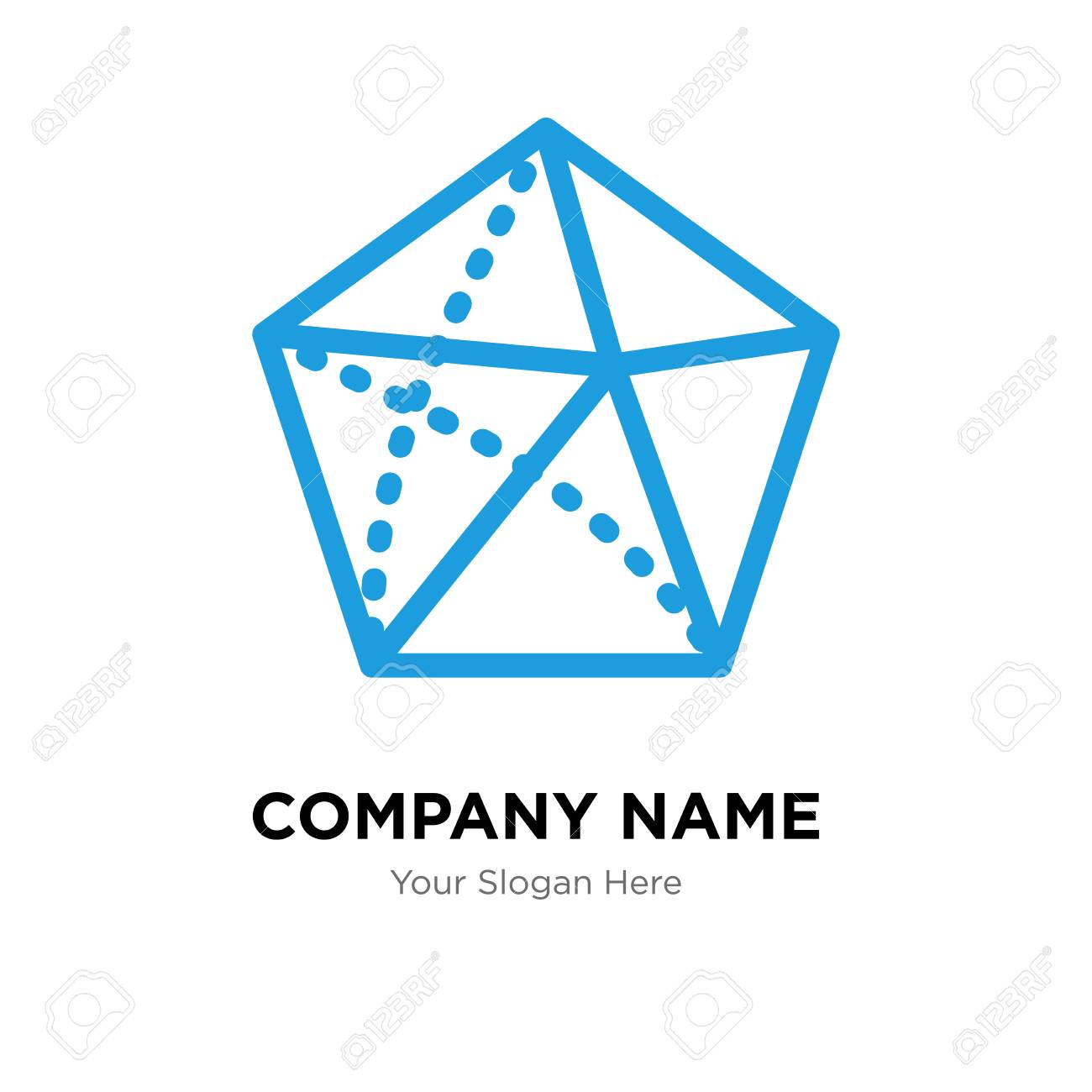 Dodecahedron Template | Dodecahedron Company Logo Design Template Dodecahedron Logotype
