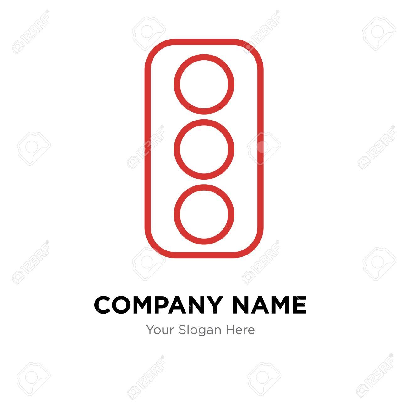 Traffic Light Company Logo Design Template Traffic Light Logotype