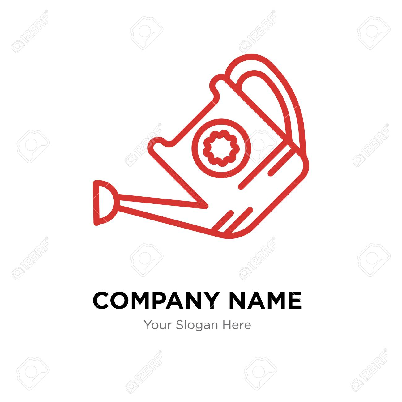 watering can company logo design template watering can logotype