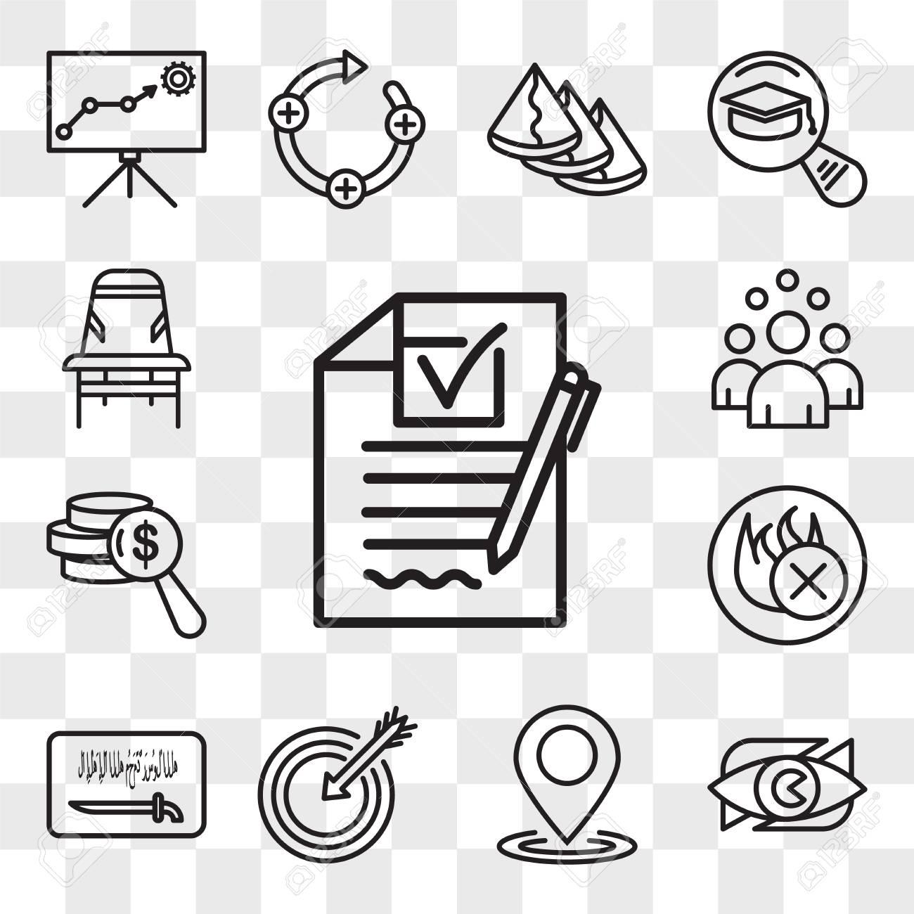 Set Of 13 transparent editable icons such as rfp, neighborhood