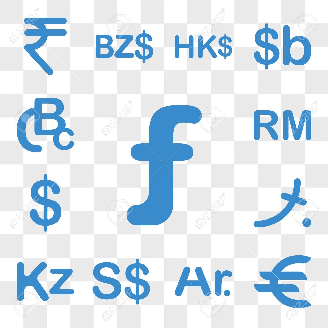 Set Of 13 Transparent Icons Such As Aruba Currency Germany