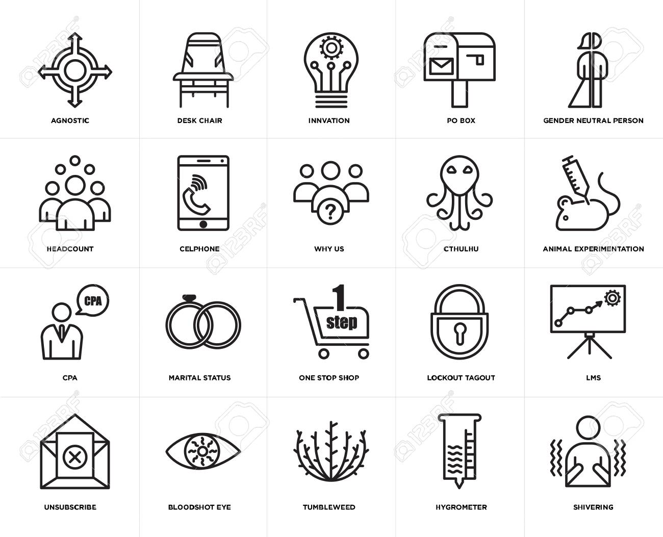 set of 20 simple editable icons such as shivering animal experimentation royalty free cliparts vectors and stock illustration image 106808035 set of 20 simple editable icons such as shivering animal experimentation