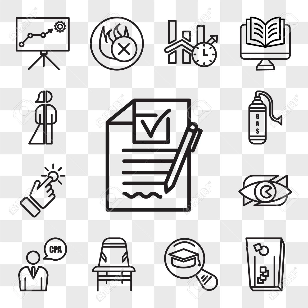 Set Of 13 transparent editable icons such as rfp, cornhole, most