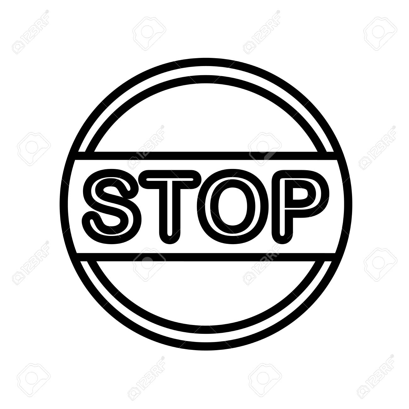 Stop icon vector isolated on white background, Stop transparent