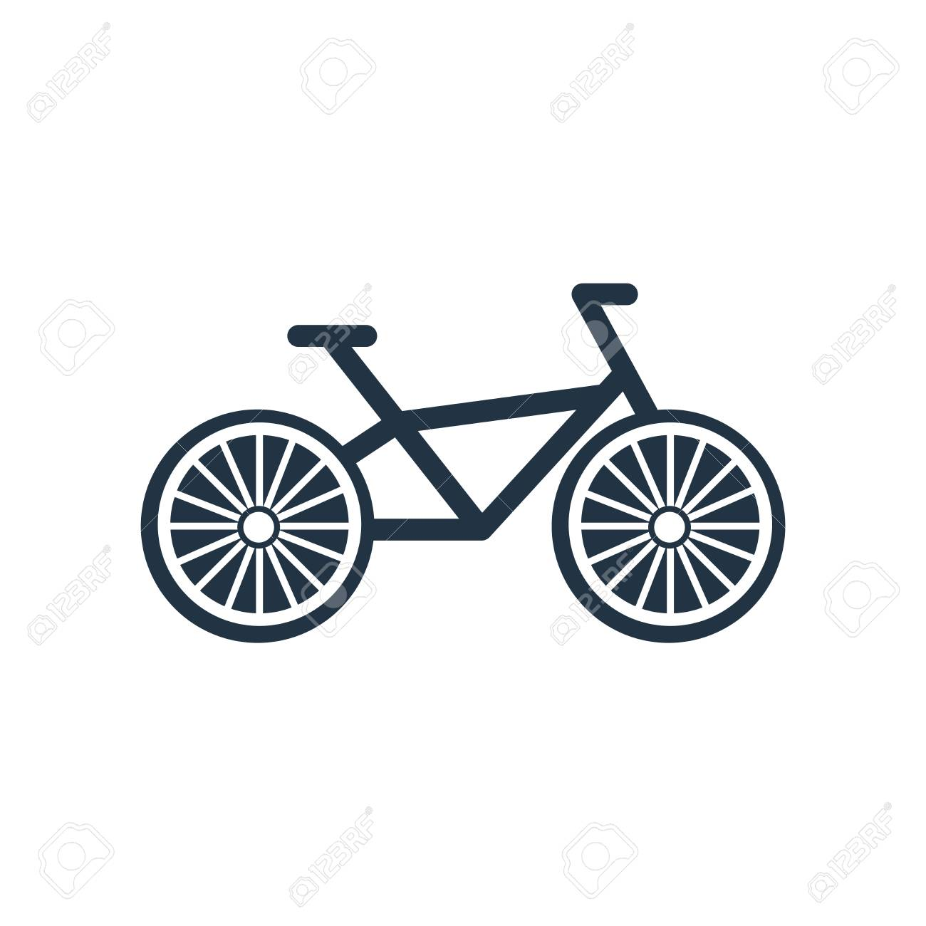 Bicycle Icon Vector Isolated On White Background Bicycle Transparent Royalty Free Cliparts Vectors And Stock Illustration Image 111895886