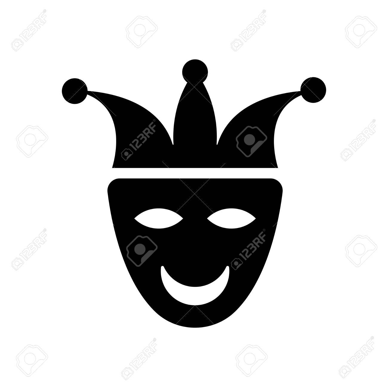 Joker face icon vector isolated on white background for your web and mobile app design