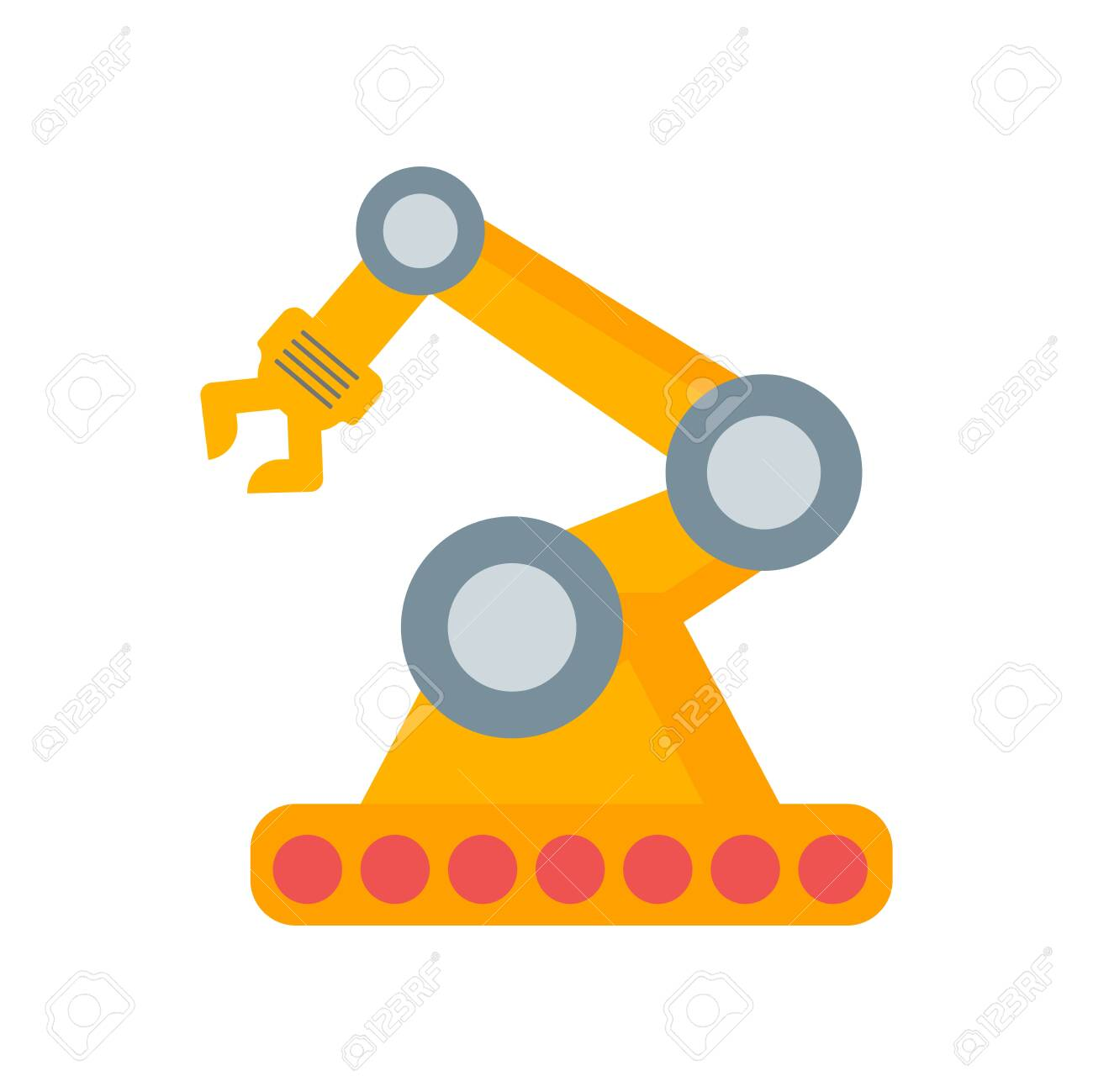 Robot arm icon vector isolated on white background for your web