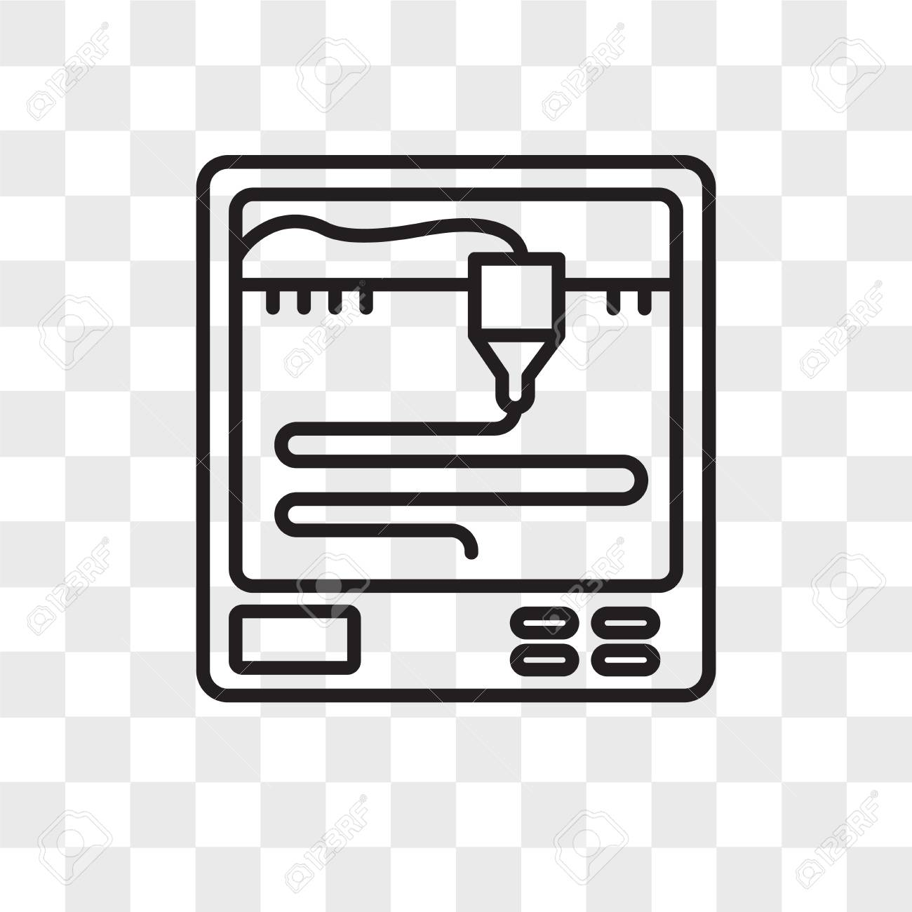 3d printer vector icon isolated on transparent background 3d royalty free cliparts vectors and stock illustration image 107598277 3d printer vector icon isolated on transparent background 3d