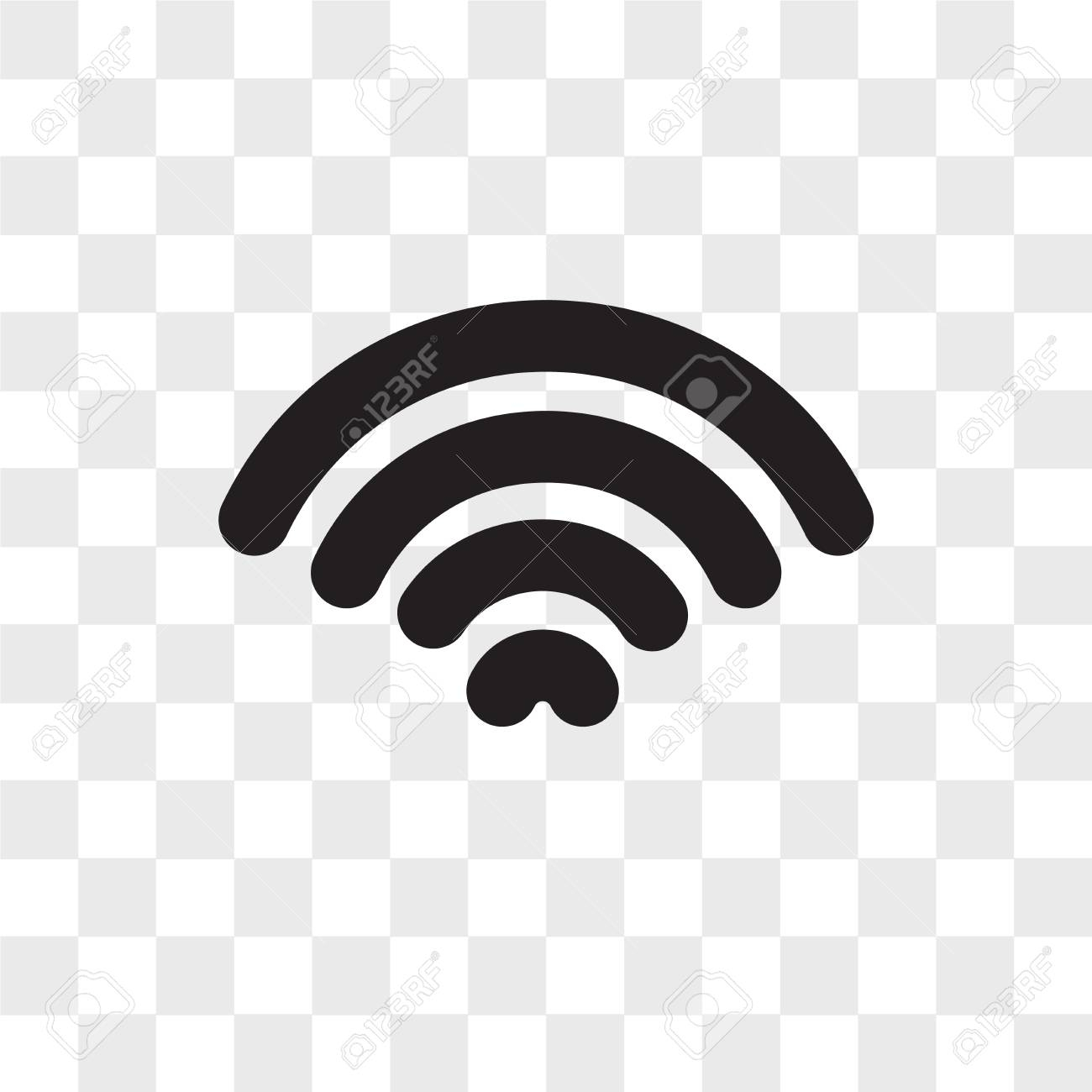 Wifi Vector Icon Isolated On Transparent Background Wifi Logo Royalty Free Cliparts Vectors And Stock Illustration Image 108102136
