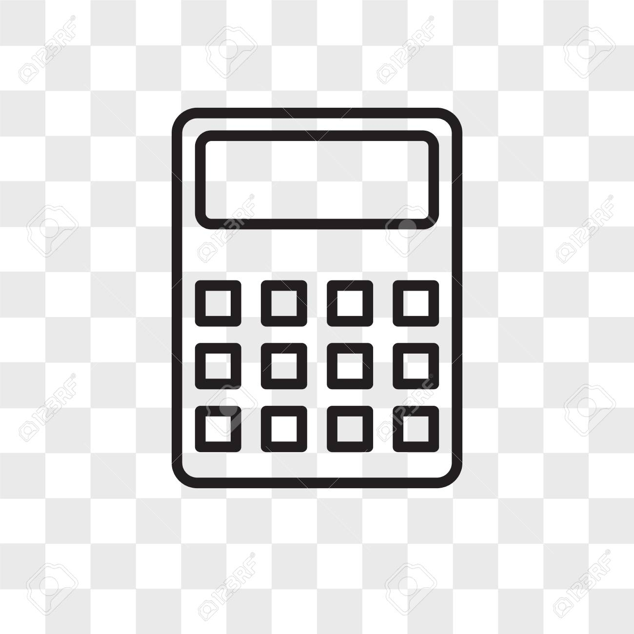 Calculator vector icon isolated on transparent background, Calculator