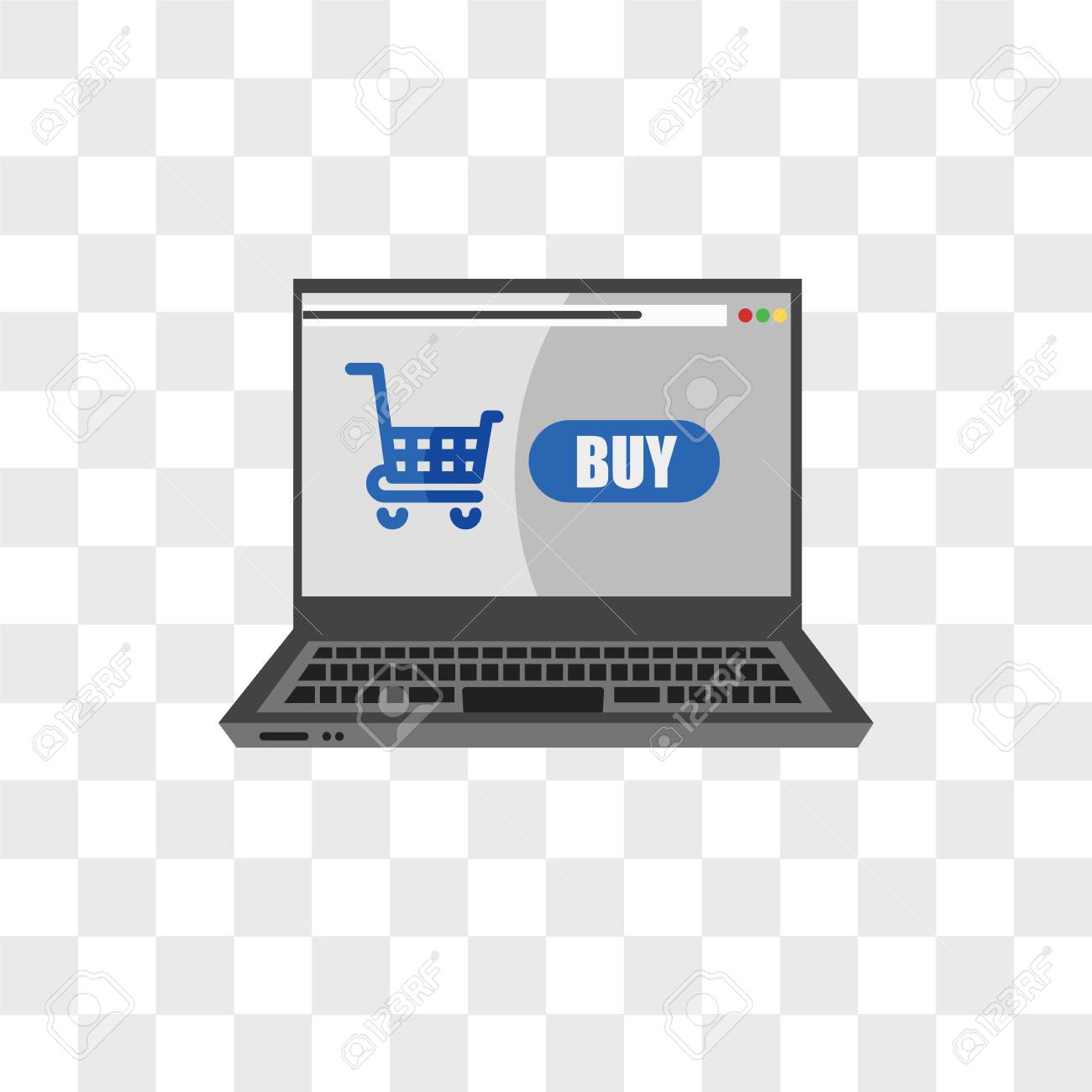 Online Shop Vector Icon Isolated On Transparent Background Online Royalty Free Cliparts Vectors And Stock Illustration Image 108188880