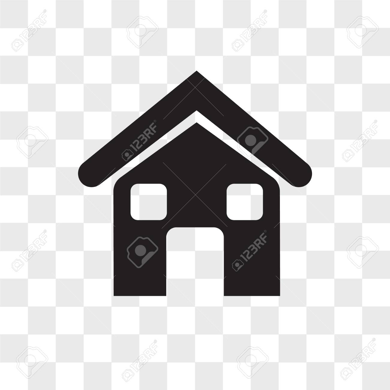 Home Vector Icon Isolated On Transparent Background Home Logo Royalty Free Cliparts Vectors And Stock Illustration Image 108199694