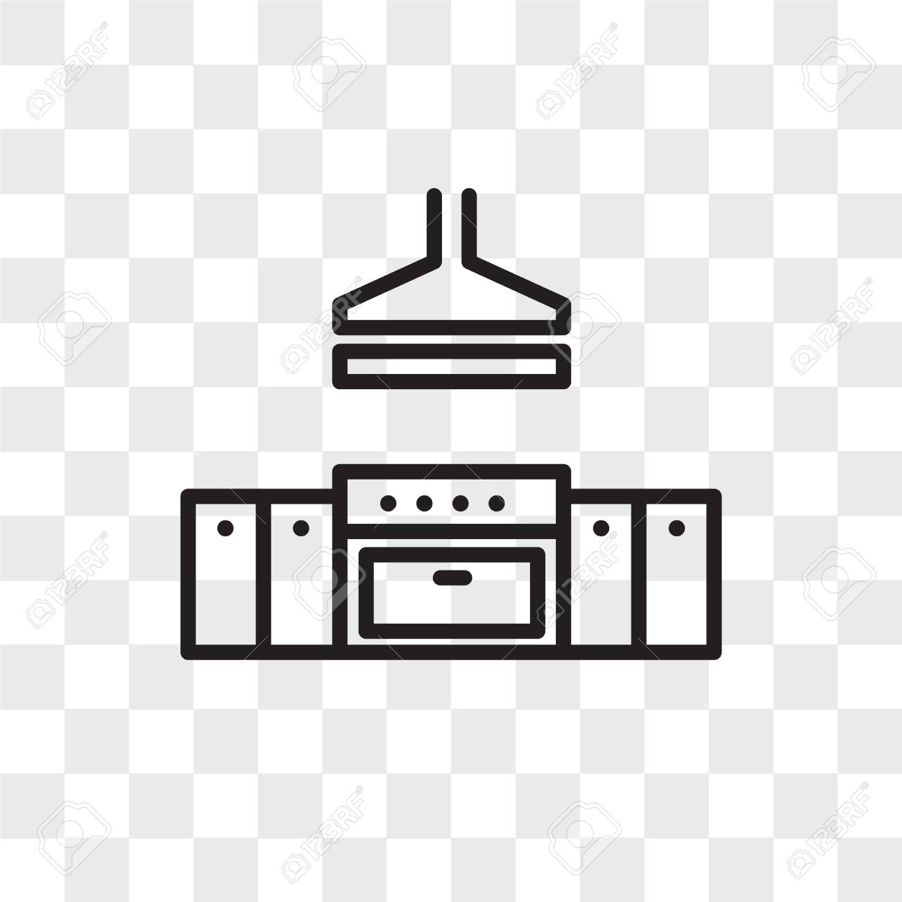 Kitchen Vector Icon Isolated On Transparent Background Kitchen