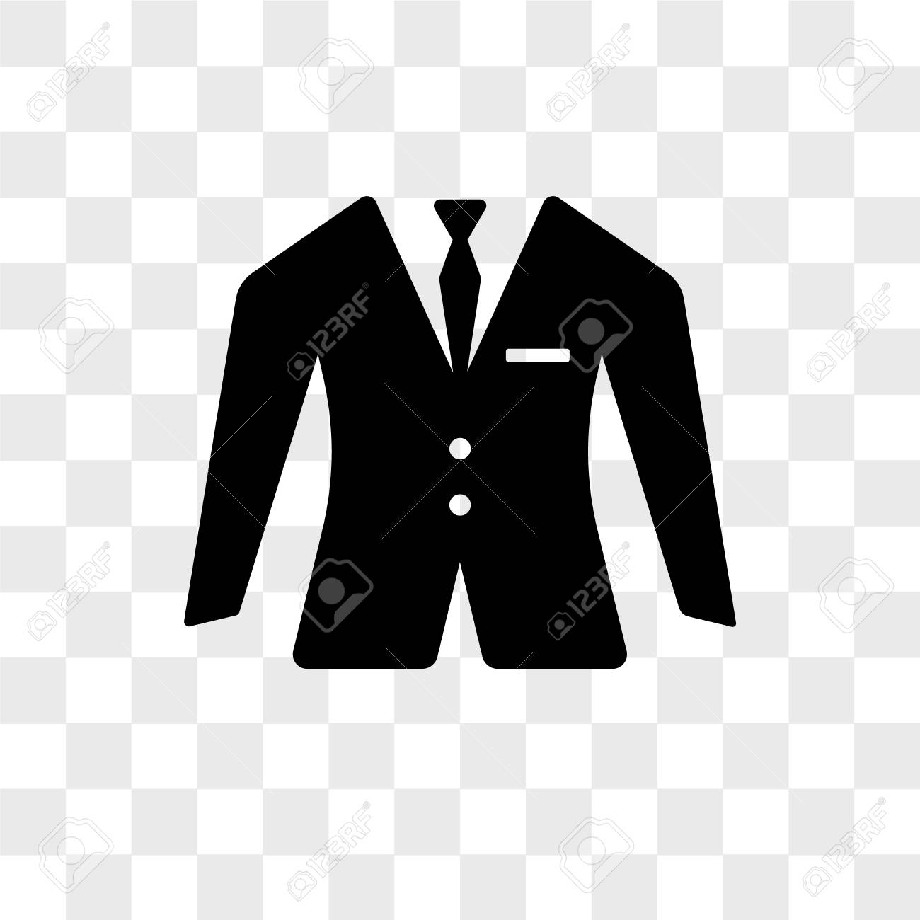 Suit vector icon isolated on transparent background, Suit logo..