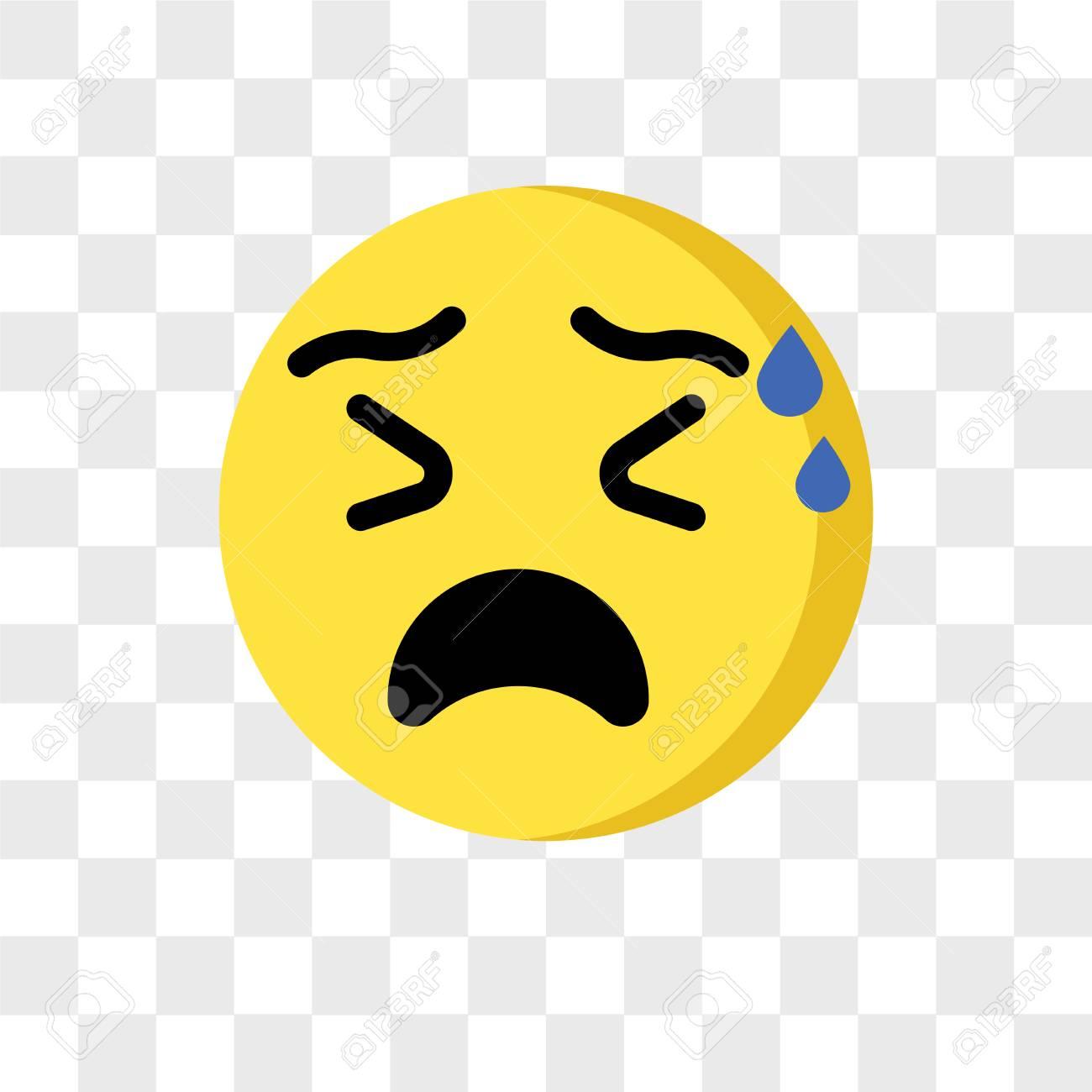 Nervous emoji vector icon isolated on transparent background,