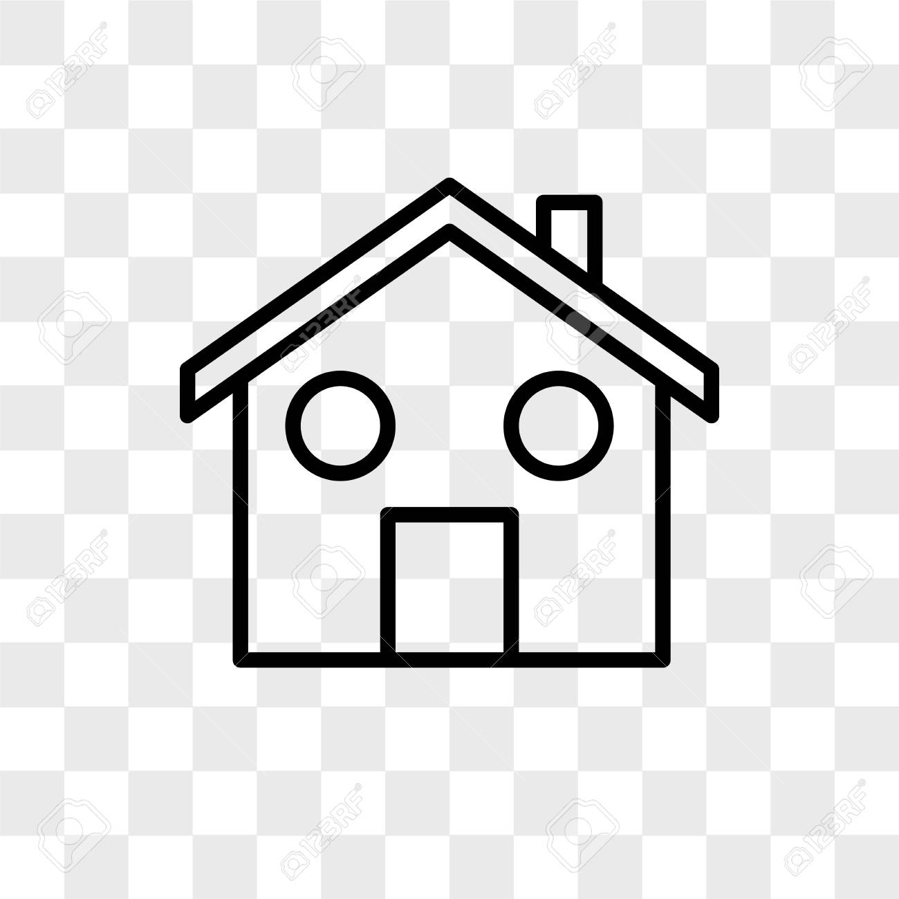 Home Vector Icon Isolated On Transparent Background Home Logo Royalty Free Cliparts Vectors And Stock Illustration Image 108800837