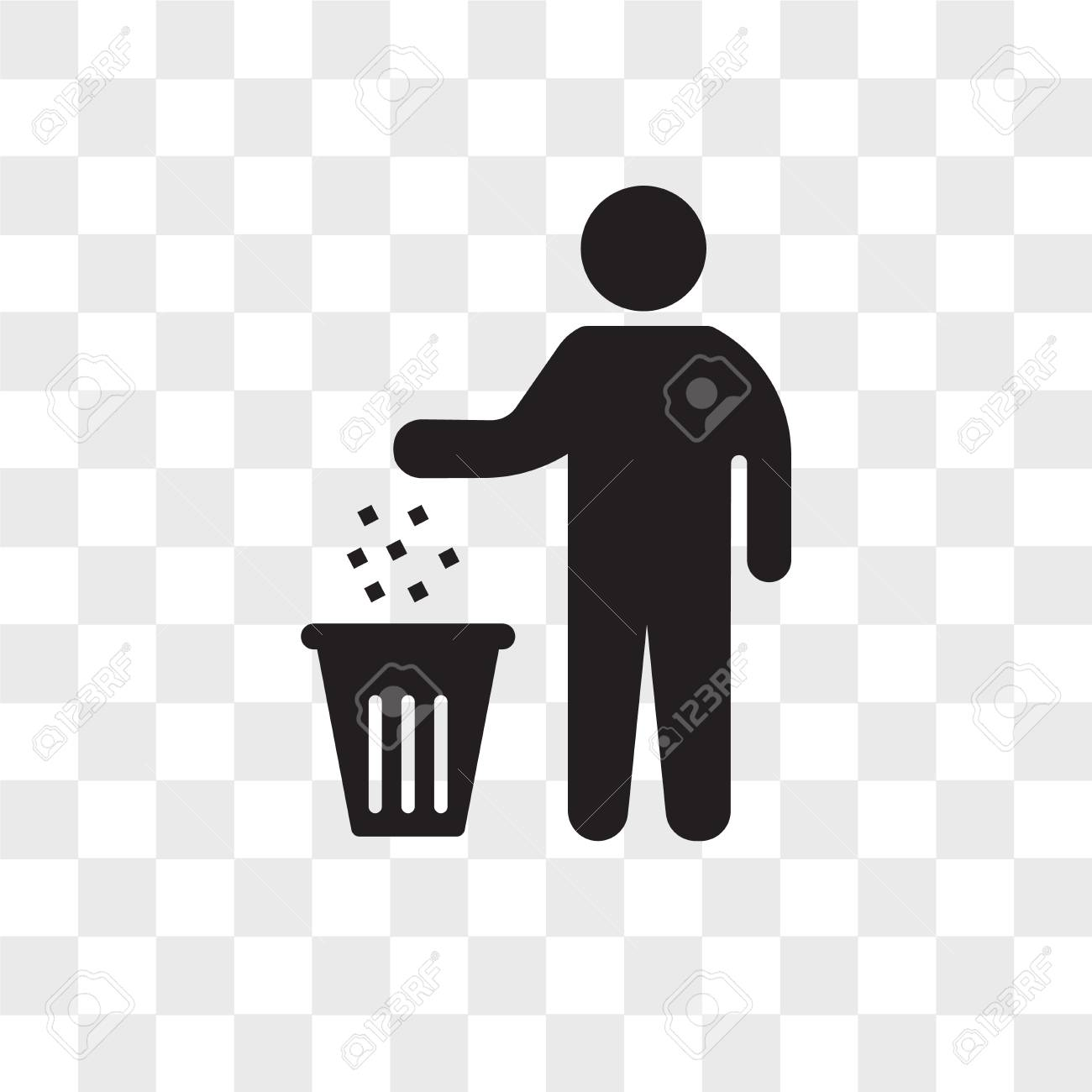 Person Recycling Vector Icon Isolated On Transparent Background