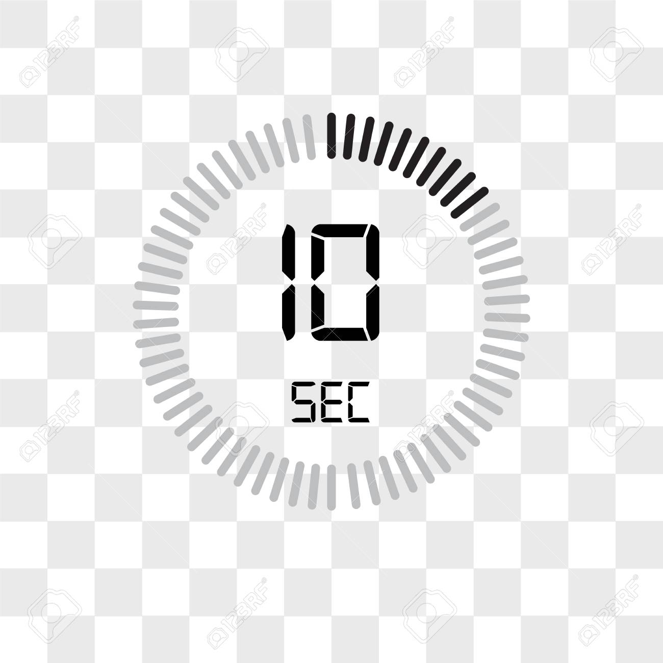 The 10 seconds vector icon isolated on transparent background, The 10 seconds logo concept - 108966565