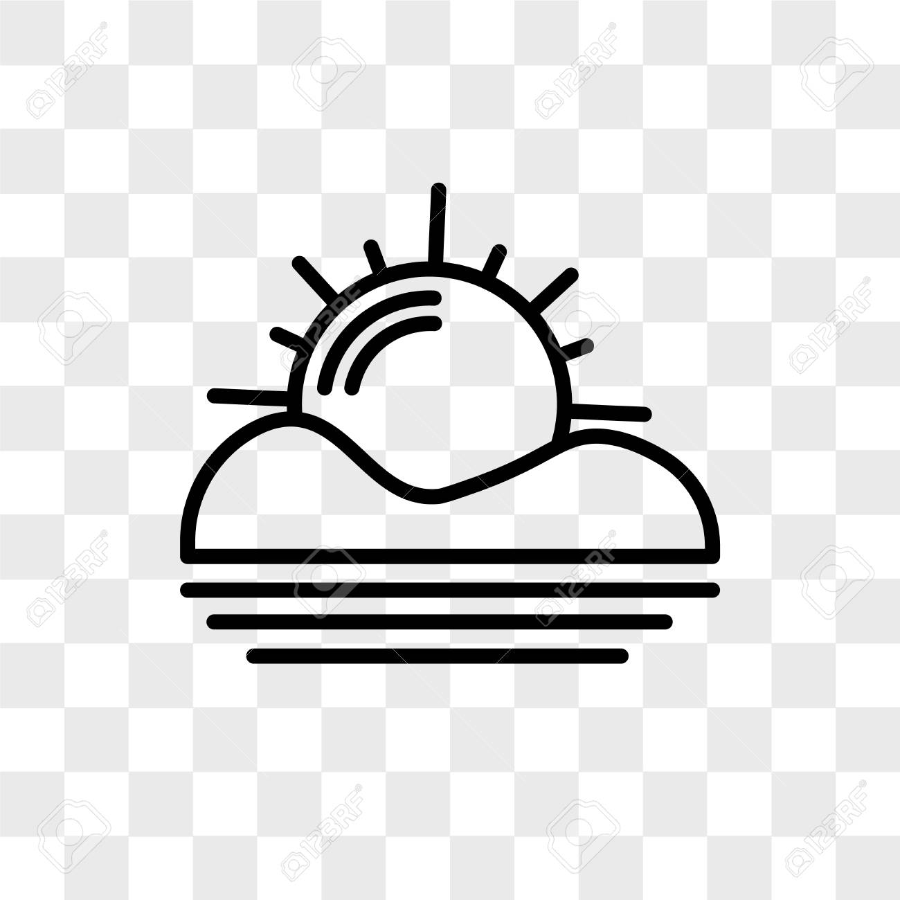 sunset vector icon isolated on transparent background sunset royalty free cliparts vectors and stock illustration image 109059544 sunset vector icon isolated on transparent background sunset