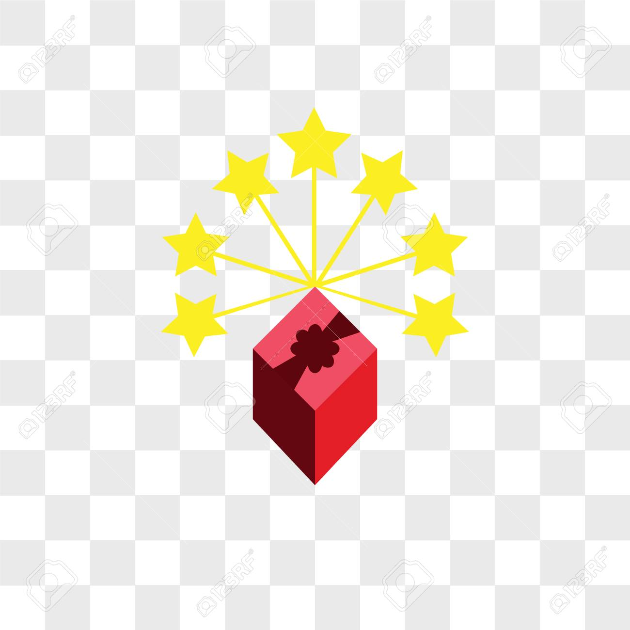 Lucky Draw Vector Icon Isolated On Transparent Background Lucky