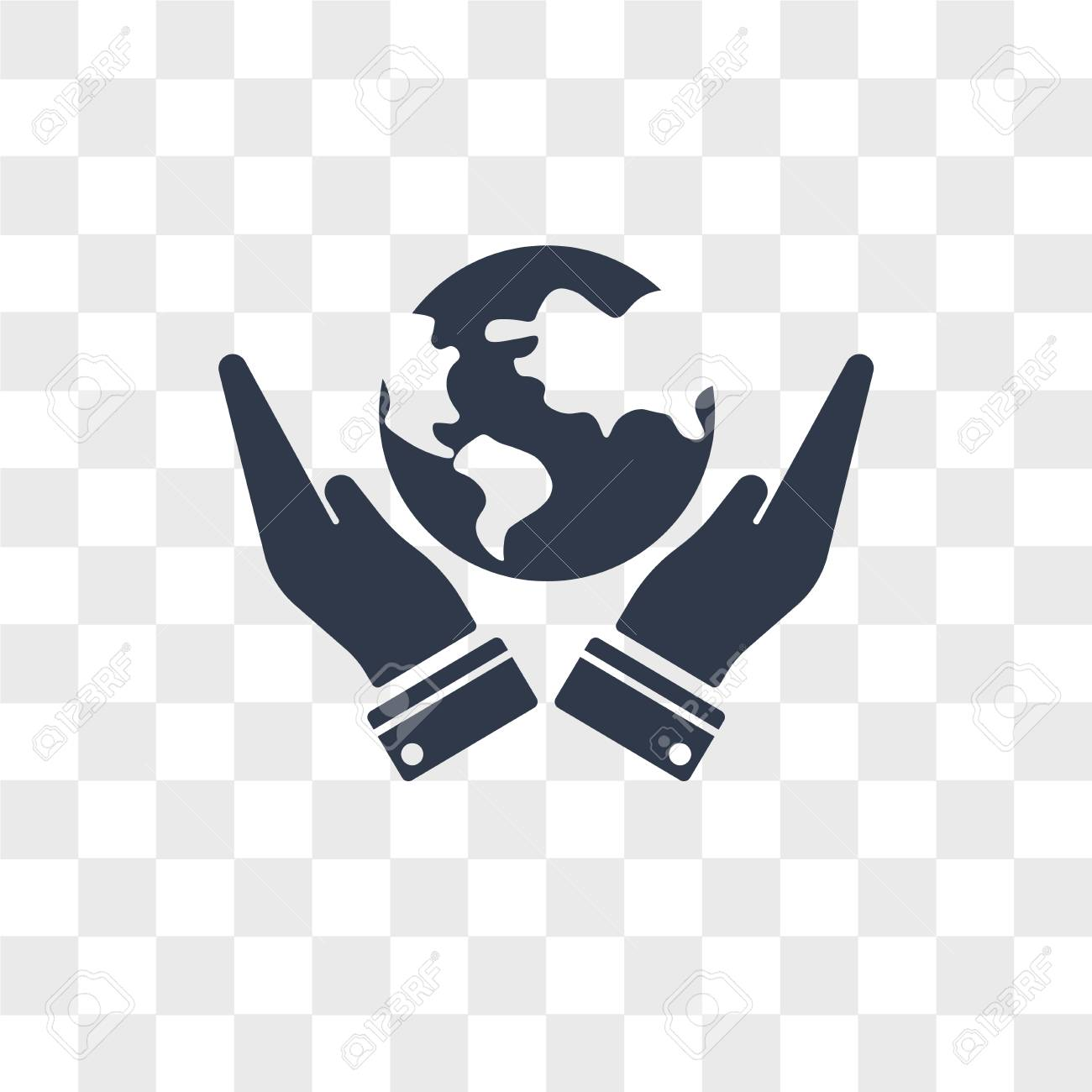 Save The Earth Vector Icon Isolated On Transparent Background
