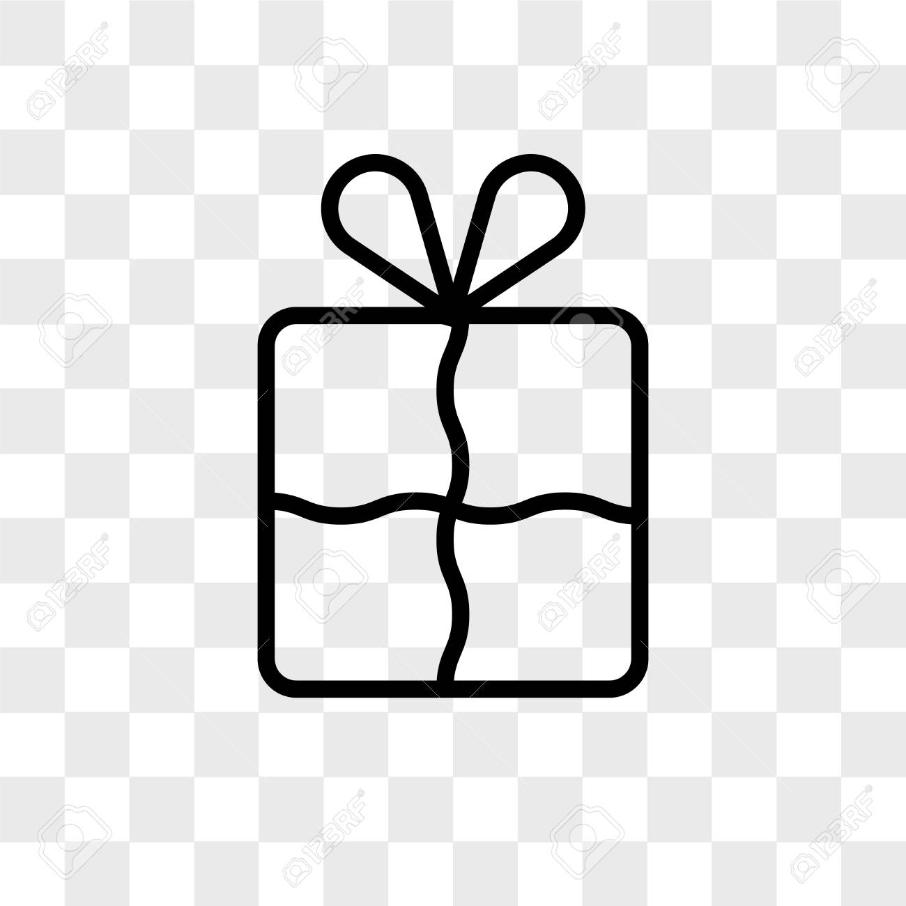 Gift Box With A Bow Vector Icon Isolated On Transparent Background Royalty Free Cliparts Vectors And Stock Illustration Image 109316085