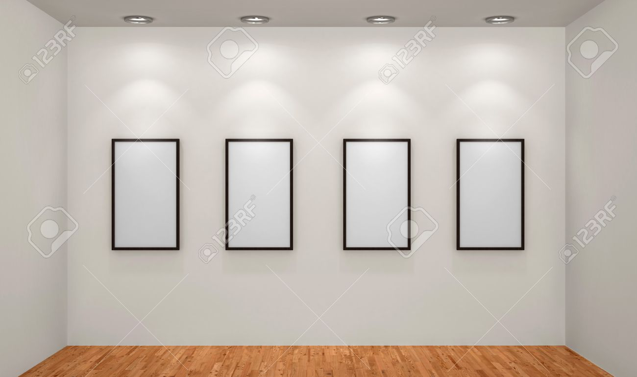 Abstract background 3D render Picture frames or photos in art..