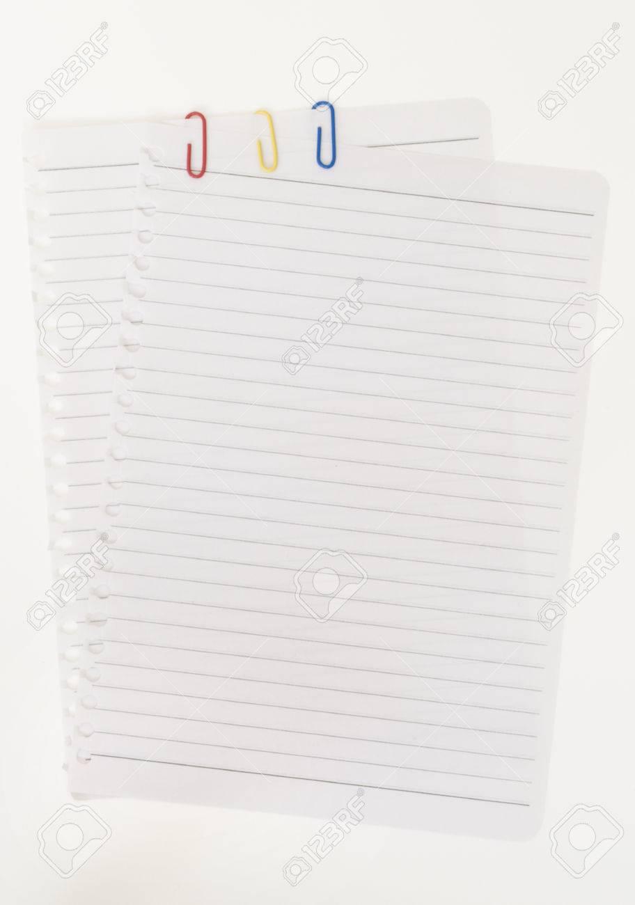 Leeres Arbeitsblatt Heft. Isoliert Auf Weißem Hintergrund ...