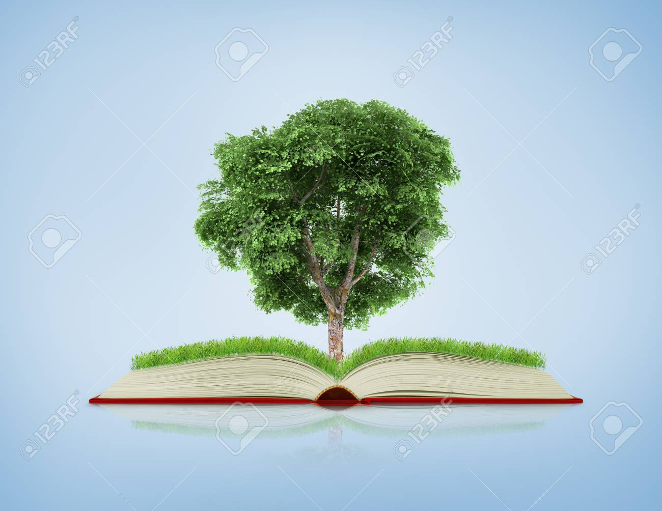 Book Of Nature With Grass And ...