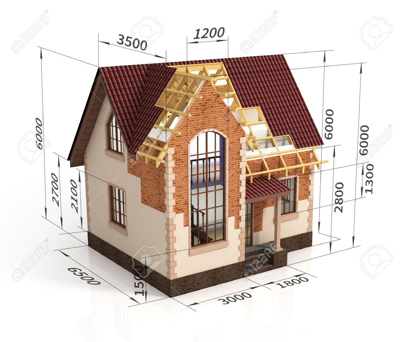 Construction haus planen design mischung übergang abbildung bauprozess mit dimension lizenzfreie bilder 37715352