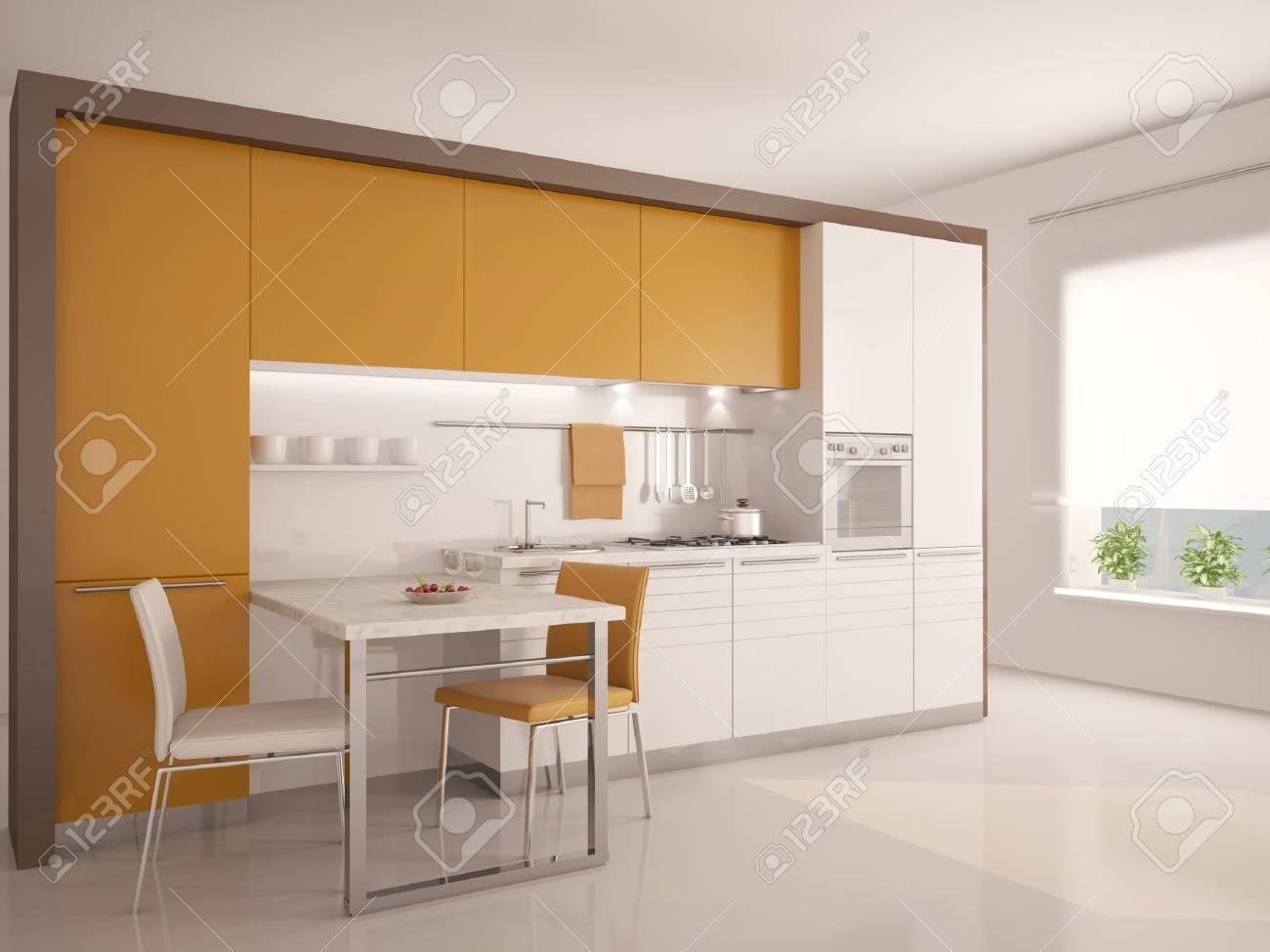 Moderne Küche Interieur 3D- Lizenzfreie Fotos, Bilder Und Stock ...