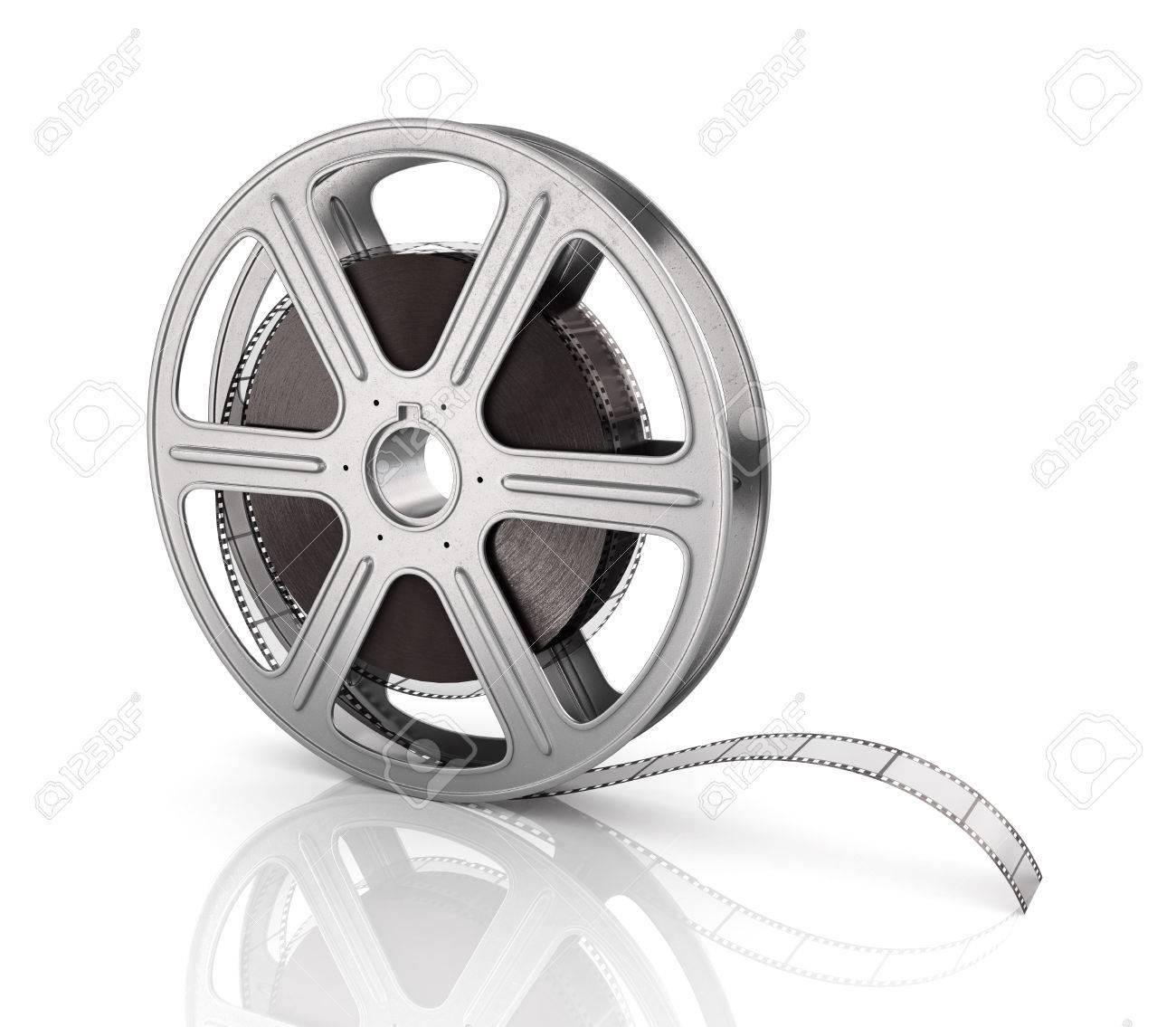 Bewegtbild-Filmrolle Auf Dem Weißen Hintergrund. Lizenzfreie Fotos ...