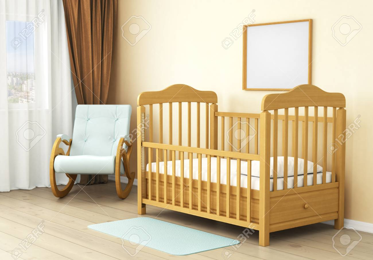 Interior Of Children Room With Wooden Bed Of Kid Concept Of Stock Photo Picture And Royalty Free Image Image 44497397