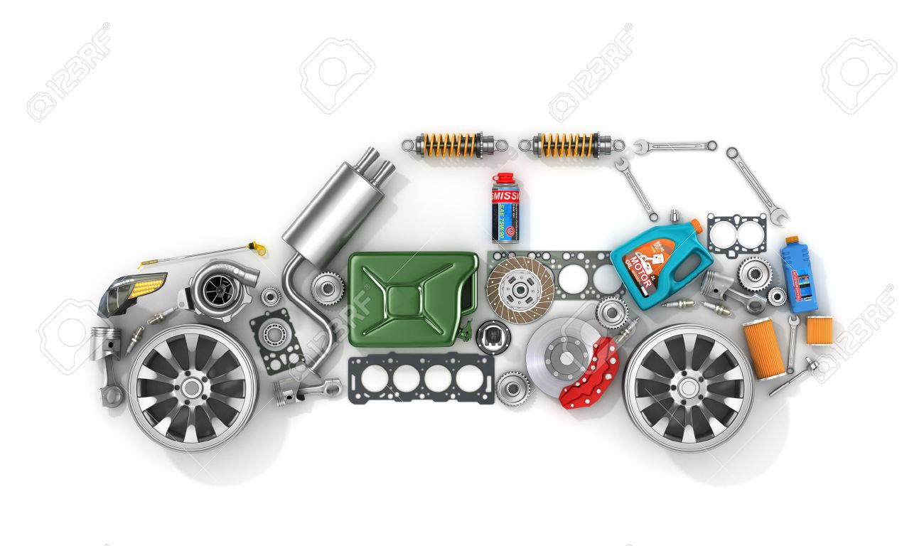 Parts For Cars >> Auto Parts In Form Of Car To Use In The Advertising Of Spare