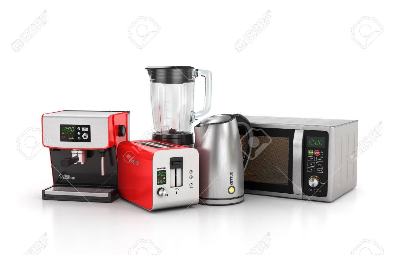 Elettrodomestici Da Cucina. Frullatore, Tostapane, Macchina Per Il ...