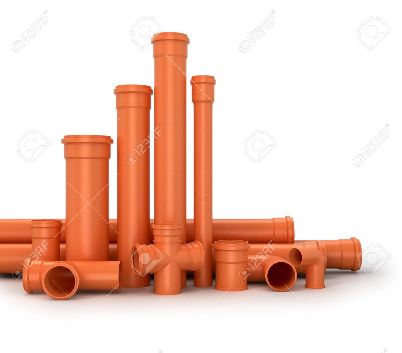 Plastic pipe on white background. Water pipes.3d illustration. Stock Illustration - 60015529  sc 1 st  123RF.com & Plastic Pipe On White Background. Water Pipes.3d Illustration. Stock ...