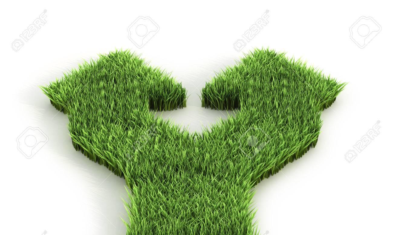 草の間から二重矢印3 d イラストレーター