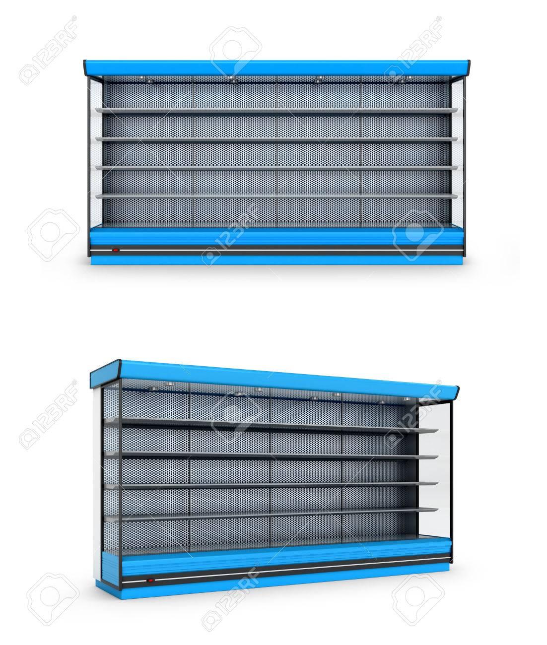 Étagère Congélateur BlancIllustration Ou Sur Boutique À 3d Fond CxBoWdre