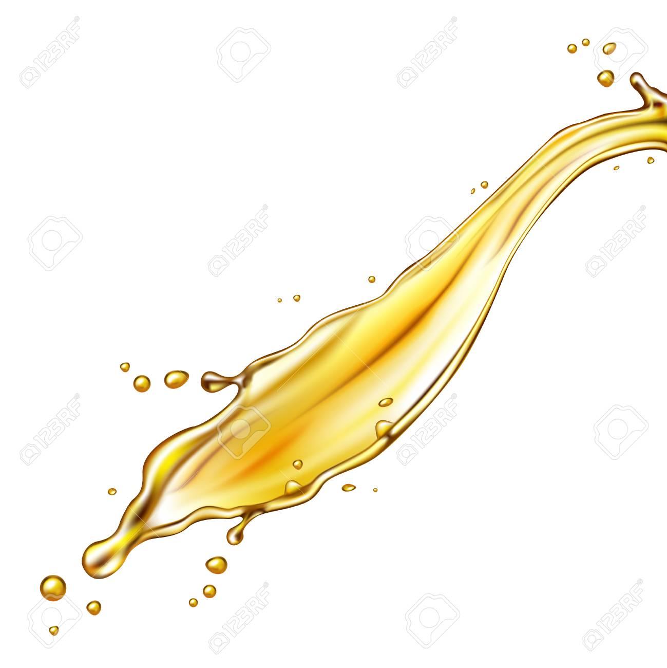 Oil splash isolated on white background. Vector illustration. - 94792974