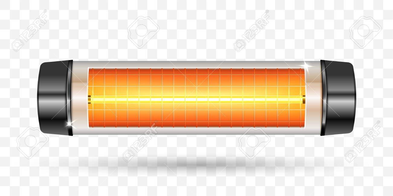 Modern electric infrared heater. Vector Illustration. - 138516445
