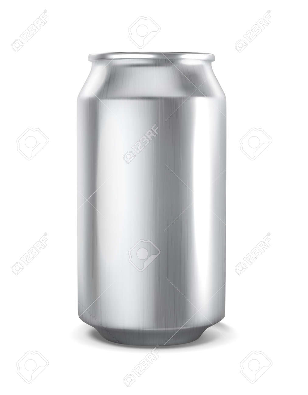 Tin can for a drink. Mockup for branding.Vector illustration on white background. - 157103839