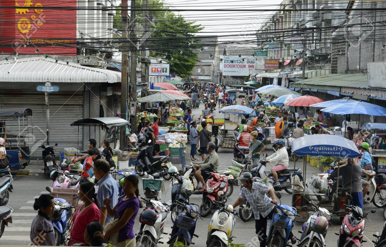 The City Center Of Phuket Town, The Day Market On The Island.. Stock Photo,  Picture And Royalty Free Image. Image 26798258.