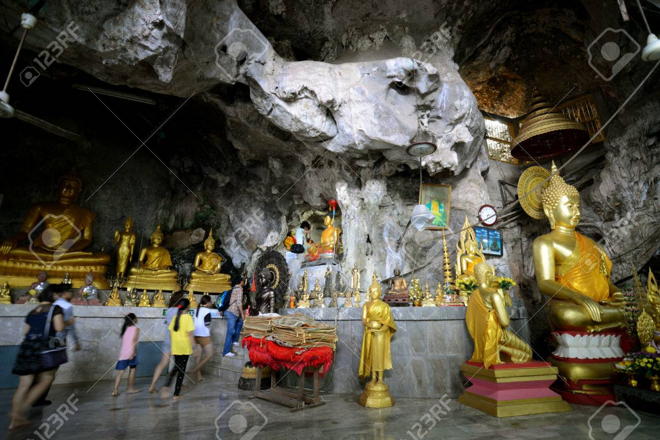 The Temple Wat Tham Seau Outside The City Centre Of Krabi On