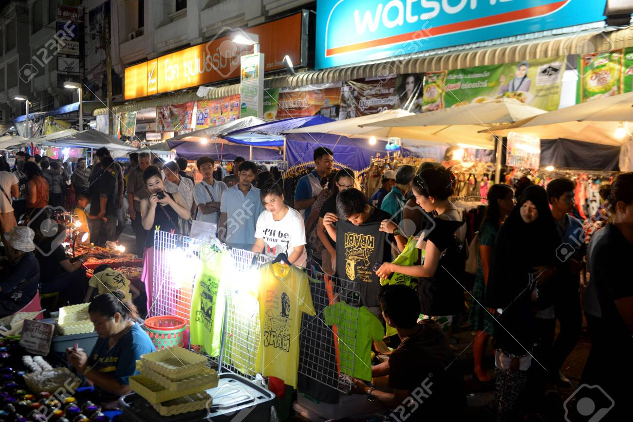 The Nightmarket In The City Of Krabi On The Andaman Sea In The