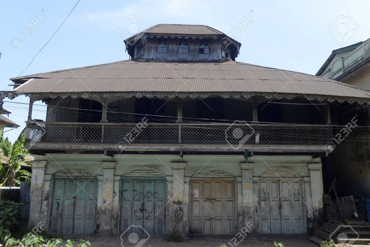A Colonial House In The Old City Of Myeik South Myanmar Southeastasia