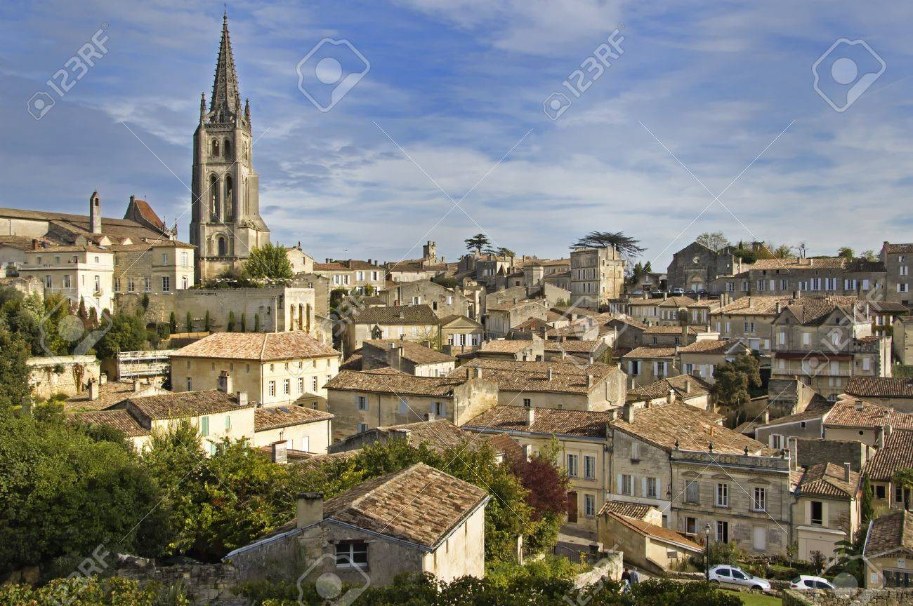 Rooftops of Saint Emilion in Bordeaux - A Unesco World Heritage Site. Stock Photo - 7478459